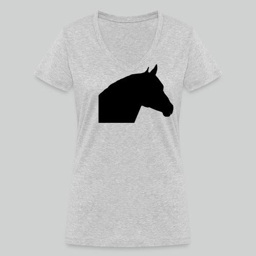 Pferdekopf- 3 - Frauen Bio-T-Shirt mit V-Ausschnitt von Stanley & Stella