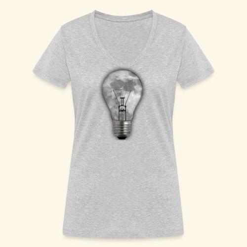 moon bulb - Camiseta ecológica mujer con cuello de pico de Stanley & Stella