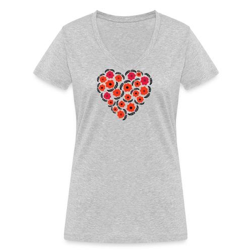 floreale - T-shirt ecologica da donna con scollo a V di Stanley & Stella