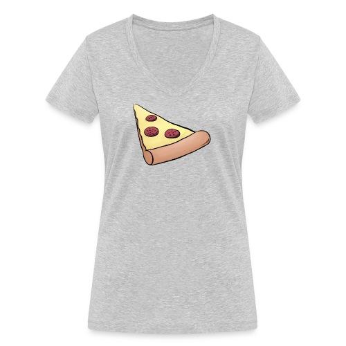 Pizzastück für Eltern-Baby-Partnerlook - Frauen Bio-T-Shirt mit V-Ausschnitt von Stanley & Stella
