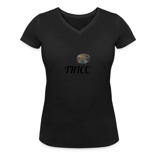 THICC Merch - Women's Organic V-Neck T-Shirt by Stanley & Stella