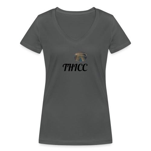 THICC Merch - Women's Organic V-Neck T-Shirt by Stanley & Stella