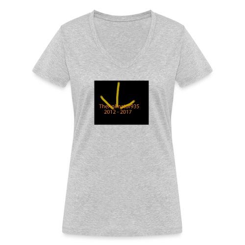 TheAnimator935 Logo - Women's Organic V-Neck T-Shirt by Stanley & Stella