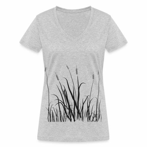 The grass is tall - T-shirt ecologica da donna con scollo a V di Stanley & Stella