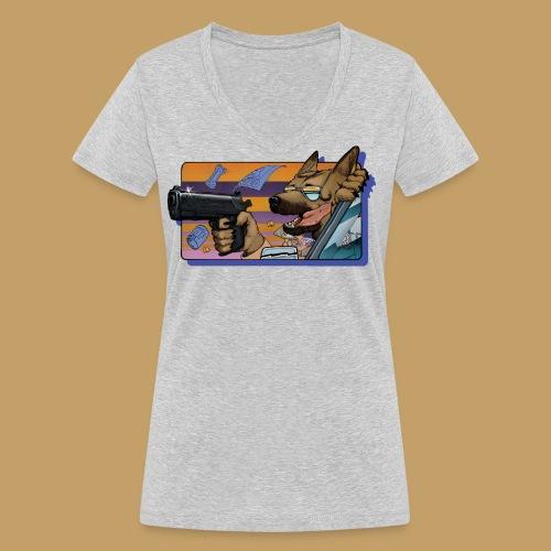 Gun Dog - bez napisu - Ekologiczna koszulka damska z dekoltem w serek Stanley & Stella
