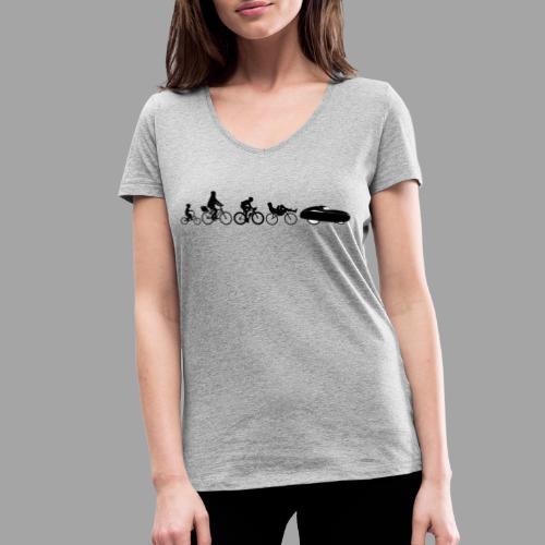 Bicycle evolution black - Stanley & Stellan naisten v-aukkoinen luomu-T-paita