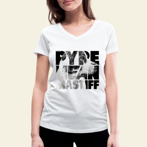 Pyrenean Mastiff II - Stanley & Stellan naisten v-aukkoinen luomu-T-paita