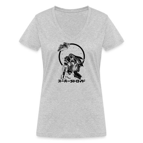 Interstellar Bounty Hunter - Stanley & Stellan naisten v-aukkoinen luomu-T-paita