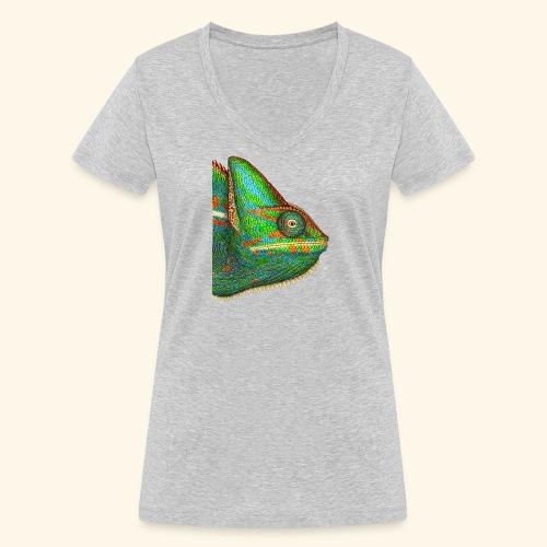 Chamäleon - Frauen Bio-T-Shirt mit V-Ausschnitt von Stanley & Stella