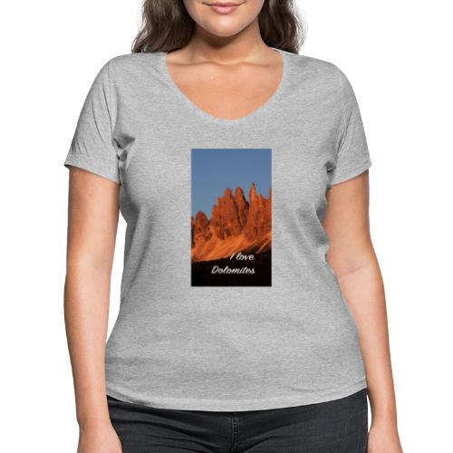 Abendglühen in König Laurins Rosengarten - Frauen Bio-T-Shirt mit V-Ausschnitt von Stanley & Stella