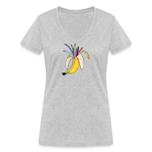 BANAAN 08 - Vrouwen bio T-shirt met V-hals van Stanley & Stella