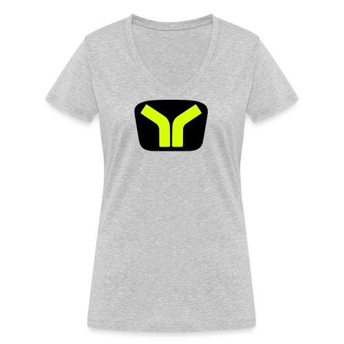 Yugo logo colored design - Women's Organic V-Neck T-Shirt by Stanley & Stella
