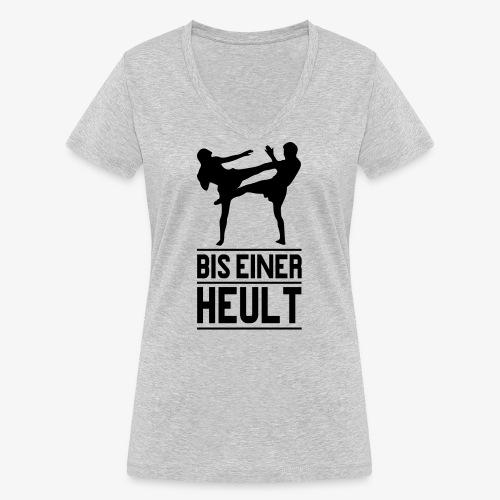 bis einer heult - Frauen Bio-T-Shirt mit V-Ausschnitt von Stanley & Stella