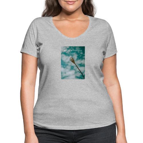 Alexa accendi la luce - T-shirt ecologica da donna con scollo a V di Stanley & Stella