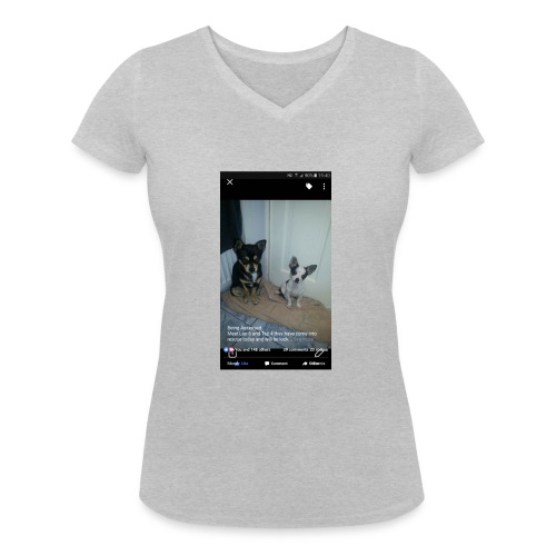 Dogs - Women's Organic V-Neck T-Shirt by Stanley & Stella