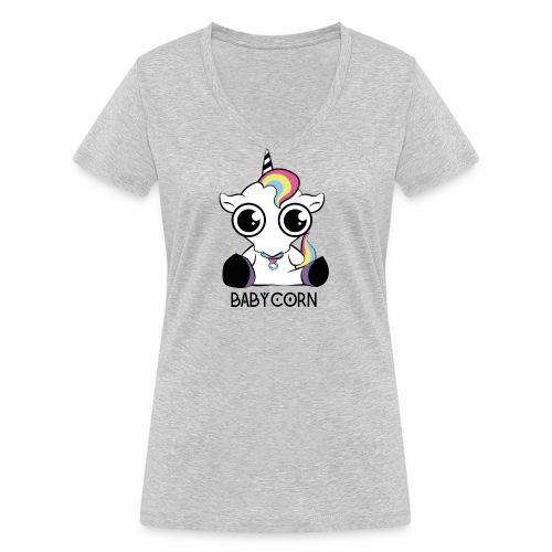 Babycorn - Frauen Bio-T-Shirt mit V-Ausschnitt von Stanley & Stella