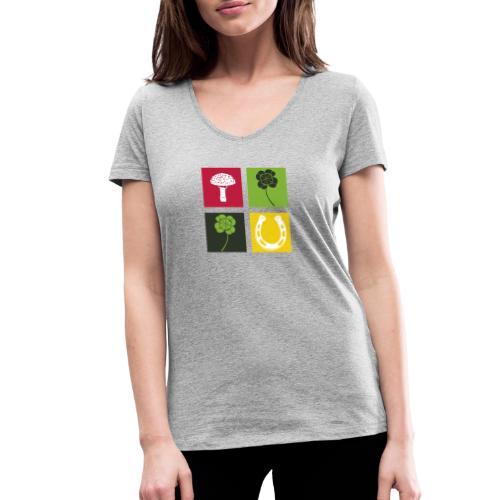 Just my luck Glück - Frauen Bio-T-Shirt mit V-Ausschnitt von Stanley & Stella