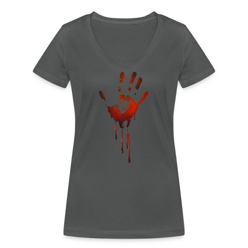 tænk dig om - Økologisk Stanley & Stella T-shirt med V-udskæring til damer