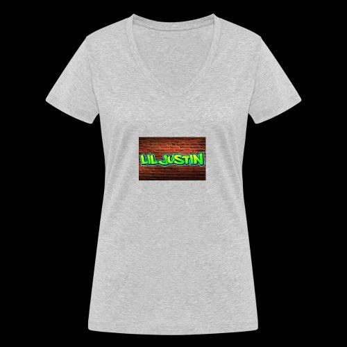 Lil Justin - Women's Organic V-Neck T-Shirt by Stanley & Stella