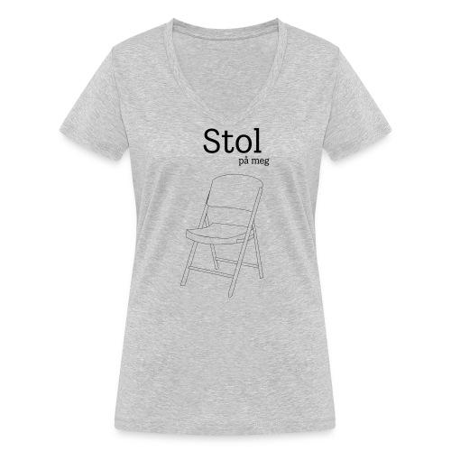 Stol på meg - Økologisk T-skjorte med V-hals for kvinner fra Stanley & Stella