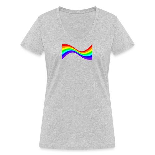 7ssLogo - Women's Organic V-Neck T-Shirt by Stanley & Stella