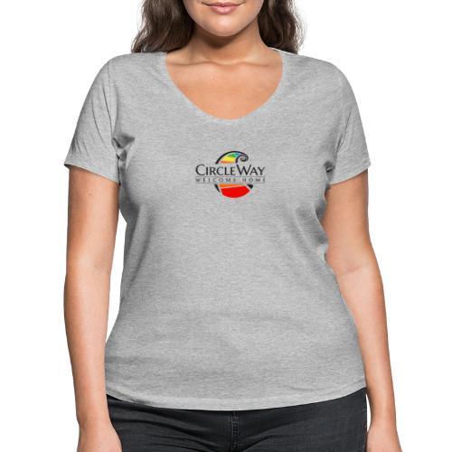 Circleway Welcome Home Logo - schwarz - Frauen Bio-T-Shirt mit V-Ausschnitt von Stanley & Stella