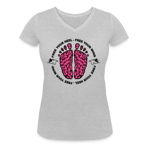 2017 Free your Heel Free your Mind - T-shirt bio col V Stanley & Stella Femme