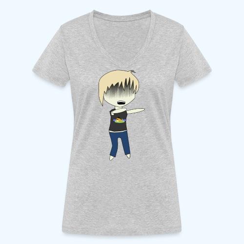 Lomengrace Zombie - Frauen Bio-T-Shirt mit V-Ausschnitt von Stanley & Stella