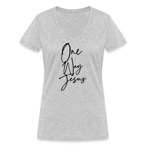 one way jesus - Camiseta ecológica mujer con cuello de pico de Stanley & Stella