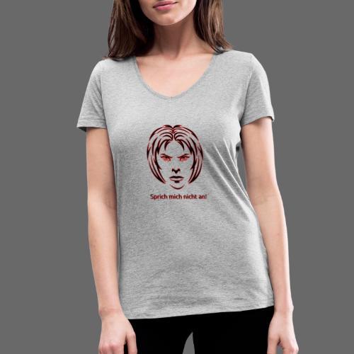 Nicht ansprechen! in schwarz - Frauen Bio-T-Shirt mit V-Ausschnitt von Stanley & Stella