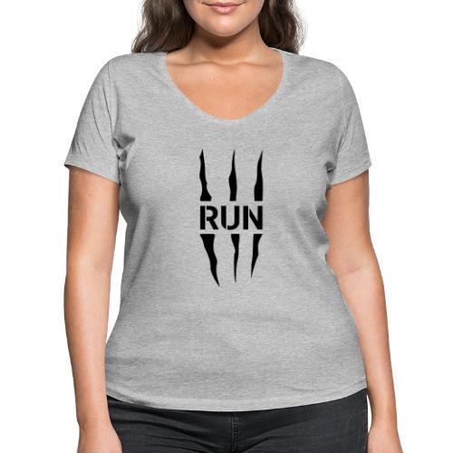 Run Scratch - T-shirt bio col V Stanley & Stella Femme