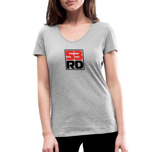 53RD Logo kompakt umrandet (schwarz-rot) - Frauen Bio-T-Shirt mit V-Ausschnitt von Stanley & Stella