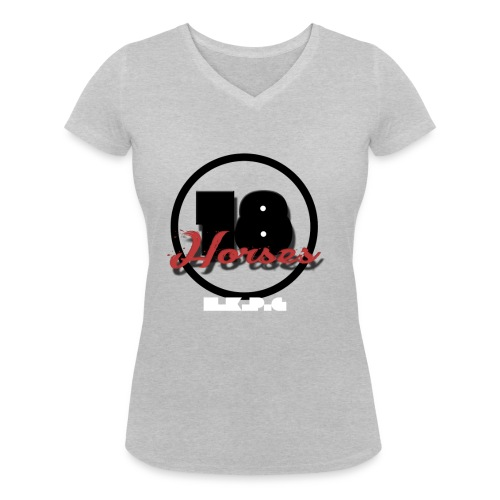 18 Horses - NKPG (White) - Ekologisk T-shirt med V-ringning dam från Stanley & Stella