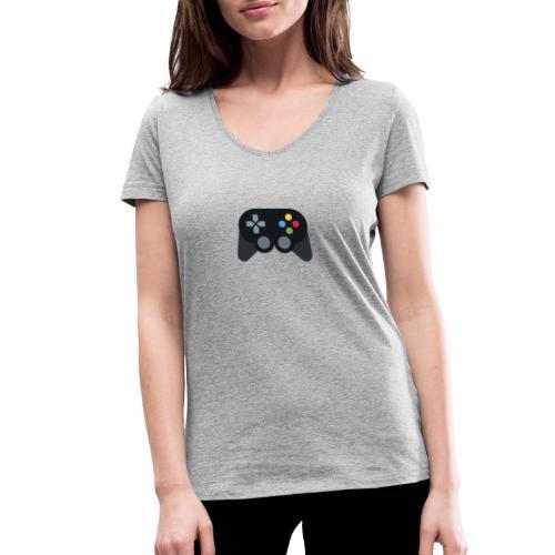 Spil Til Dig Controller Kollektionen - Økologisk Stanley & Stella T-shirt med V-udskæring til damer