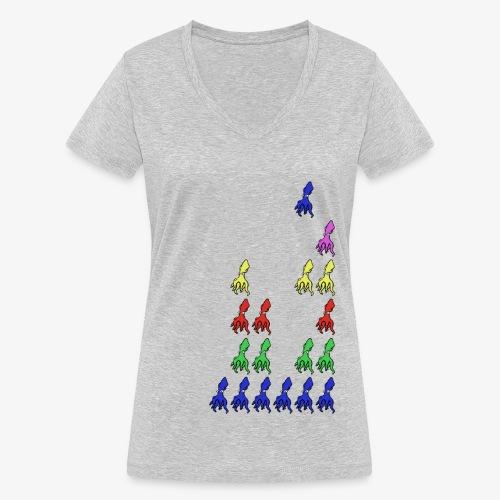 Squid Invader - T-shirt bio col V Stanley & Stella Femme