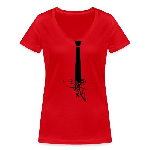 Krawatte - Frauen Bio-T-Shirt mit V-Ausschnitt von Stanley & Stella