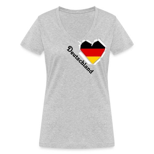 Deutschland - Frauen Bio-T-Shirt mit V-Ausschnitt von Stanley & Stella