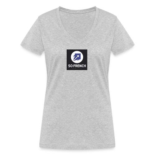 So French Records - T-shirt bio col V Stanley & Stella Femme