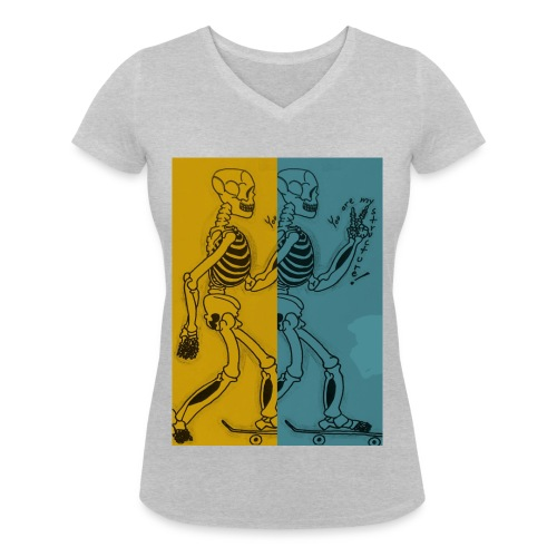 Esqueleto skater: You are my structure! - Camiseta ecológica mujer con cuello de pico de Stanley & Stella
