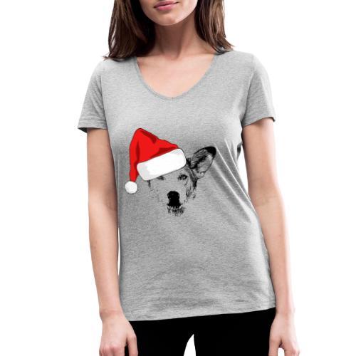 Weihnachten Podenco-Mix Hund Geschenk Podimix - Frauen Bio-T-Shirt mit V-Ausschnitt von Stanley & Stella