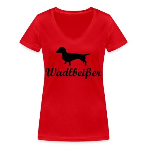 wadlbeisser_dackel - Frauen Bio-T-Shirt mit V-Ausschnitt von Stanley & Stella