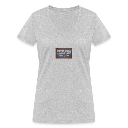 harmonny - Camiseta ecológica mujer con cuello de pico de Stanley & Stella
