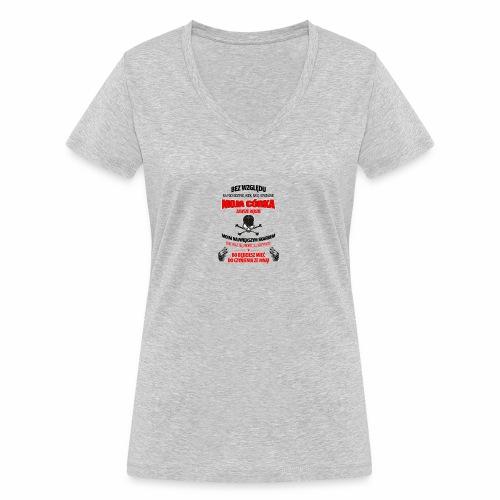 26 editor - Ekologiczna koszulka damska z dekoltem w serek Stanley & Stella