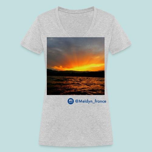Sunset Suisse - T-shirt bio col V Stanley & Stella Femme