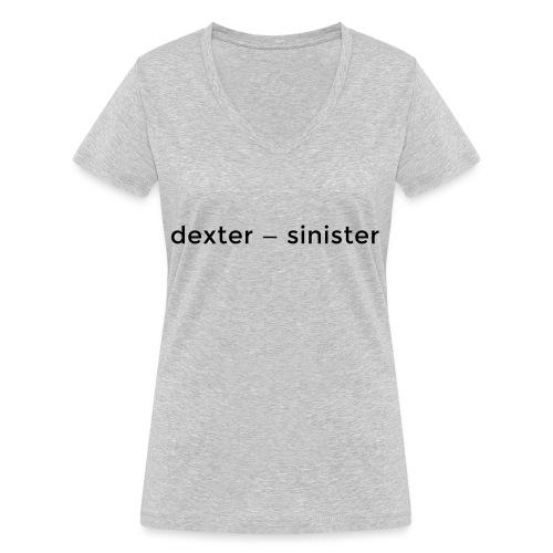 dexter sinister - Ekologisk T-shirt med V-ringning dam från Stanley & Stella