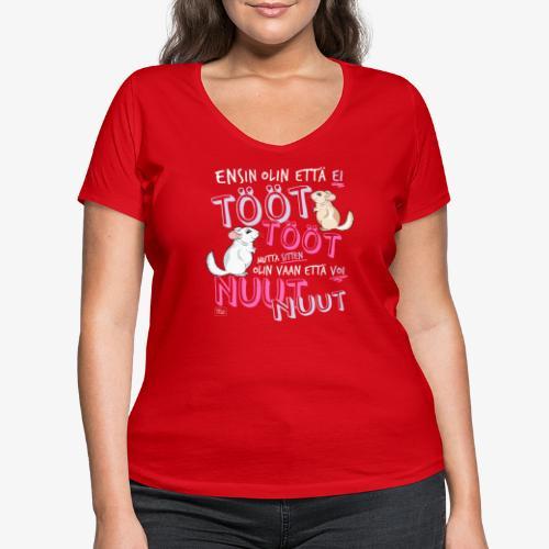 Voi Nuut Nuut V - Stanley & Stellan naisten v-aukkoinen luomu-T-paita