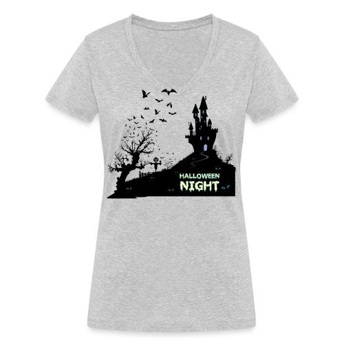 HALLOWEEN NIGHT - Frauen Bio-T-Shirt mit V-Ausschnitt von Stanley & Stella