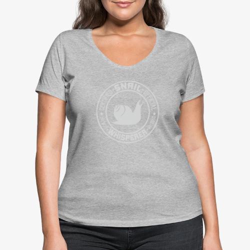 Snail Whisperer Grey - Stanley & Stellan naisten v-aukkoinen luomu-T-paita