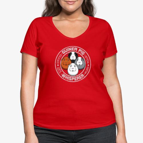 Guinea Pig Whisperer II - Stanley & Stellan naisten v-aukkoinen luomu-T-paita