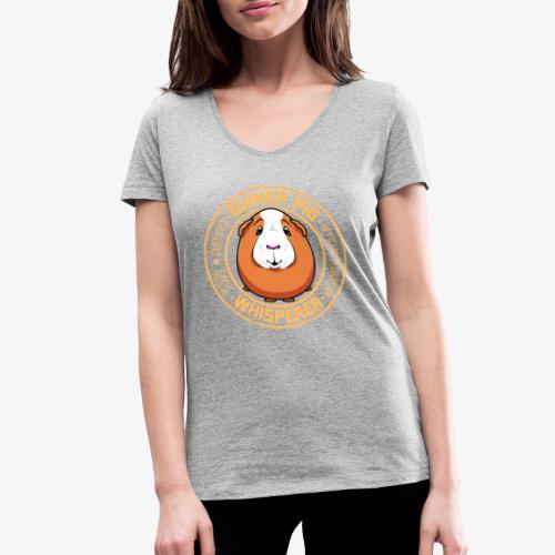Guinea Pig Whisperer IV - Stanley & Stellan naisten v-aukkoinen luomu-T-paita